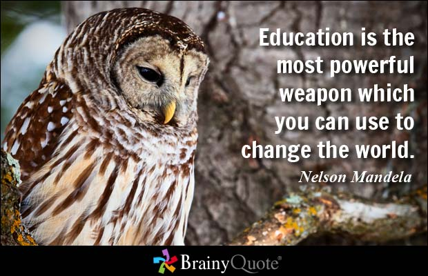 Nelson Mandela Education Quote - Best Private Schools in Calgary