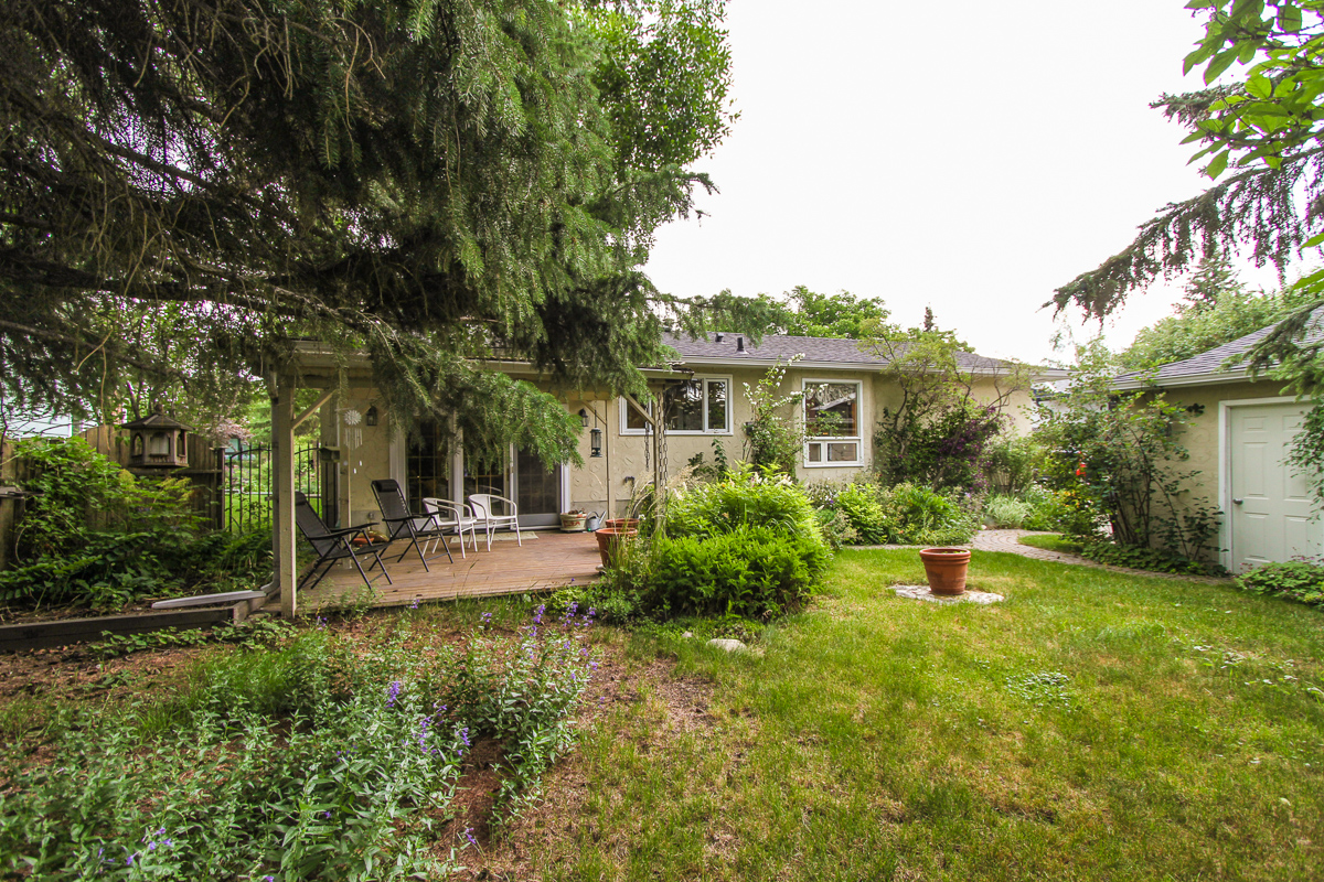 Backyard at 2420 Paliswood Road SW - Calgary MLS listings & Palliser Real Estate Calgary